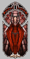 Thargunitoth Stained Glass by eloel