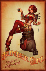 Bombergirl Pin-up