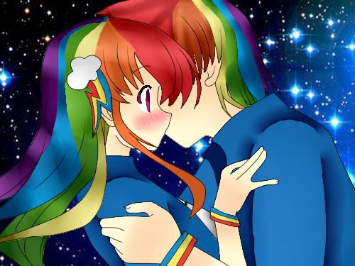 Rainbow Blitz x Rainbow Dash Human Rainbow Dash x Rainbow Bliz by