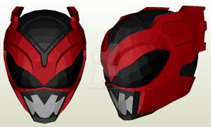 Red Psycho Ranger Helmet Pepakura