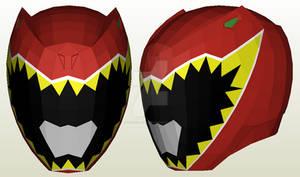 Kyoryuger Red Helmet Pepakura