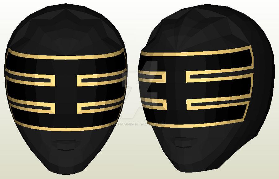 Gold Zeo Ranger Helmet Pepakura