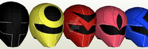 Hikari Sentai Maskman Helmet Pepakura