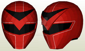 Maskman Red Mask Helmet Pepakura