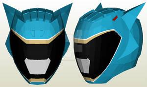 Kyoryuger Cyan Helmet Pepakura