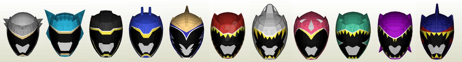 Zyuden Sentai Kyoryuger Helmet Pepakura