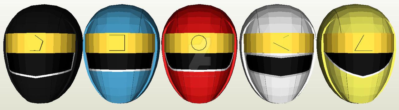 Ninja Sentai Kakuranger Helmet Pepakura
