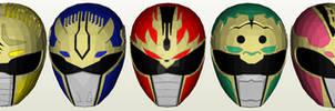 Gosei Sentai Dairanger Helmet Pepakura