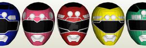 Gekisou Sentai Carranger Helmet Papercraft