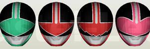 Mirai Sentai Timeranger Helmet Papercraft