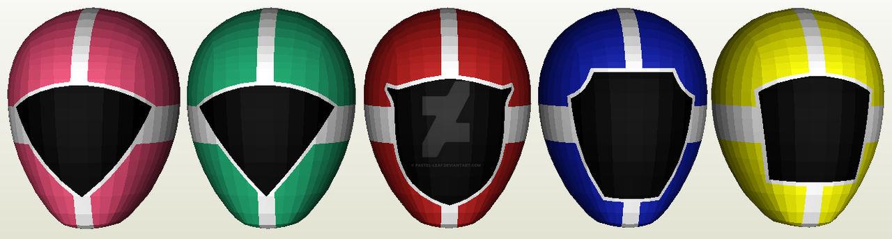KyuuKyuu Sentai GoGoV Helmet Papercraft