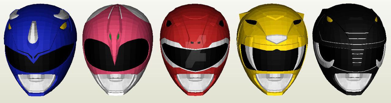 Kyoryu Sentai Zyuranger Helmet Papercraft