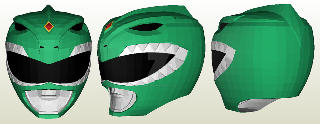 Dragon Ranger Helmet Papercraft by Pastel-Leaf