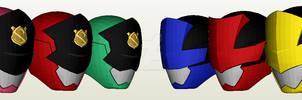 Lupinranger VS Patranger Helmet Papercraft PDO
