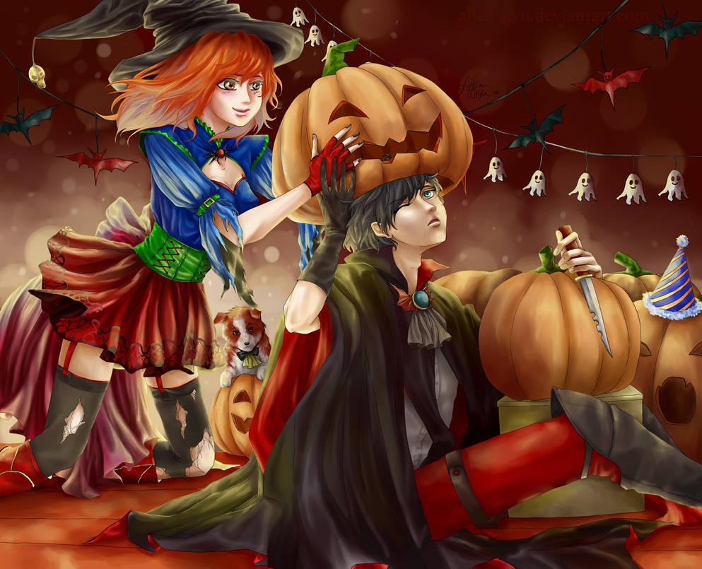 Happy Halloween_Dean+Lera by Allen-Jiyu