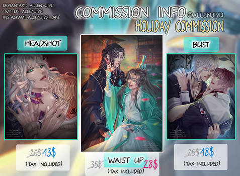 Commissions [HOLIDAY SALE] OPEN