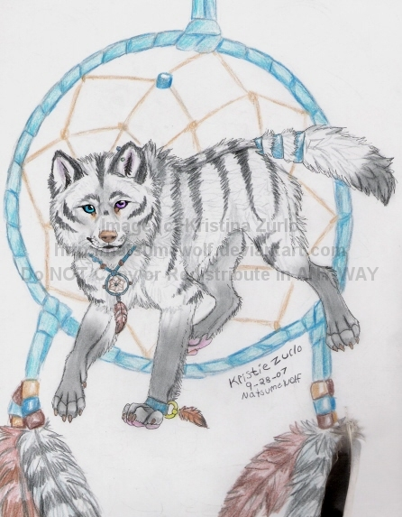 Wolf Dream Catchers Drawings How to draw wolf dream...