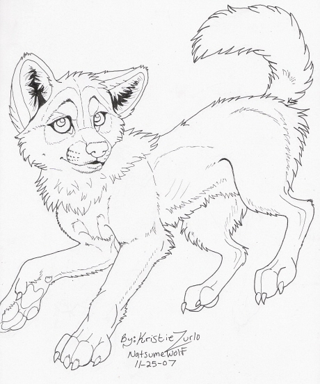 free wolf pup coloring pages - photo#31