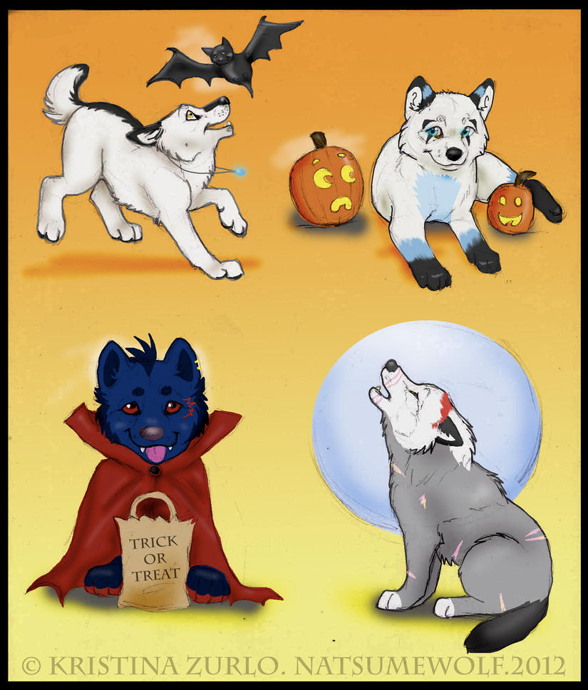 2 wolf pup halloween all taken by natsumewolf - Wolf Halloween