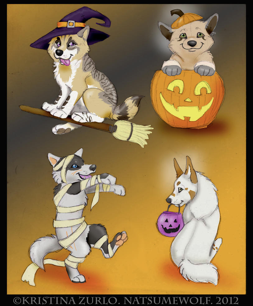 200 wolf halloween pup all sold by natsumewolf - Wolf Halloween