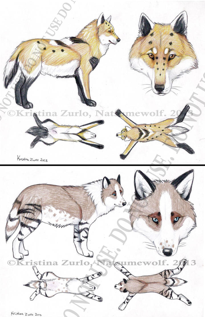 2 Wolf Adoptables ( SOLD) by NatsumeWolf