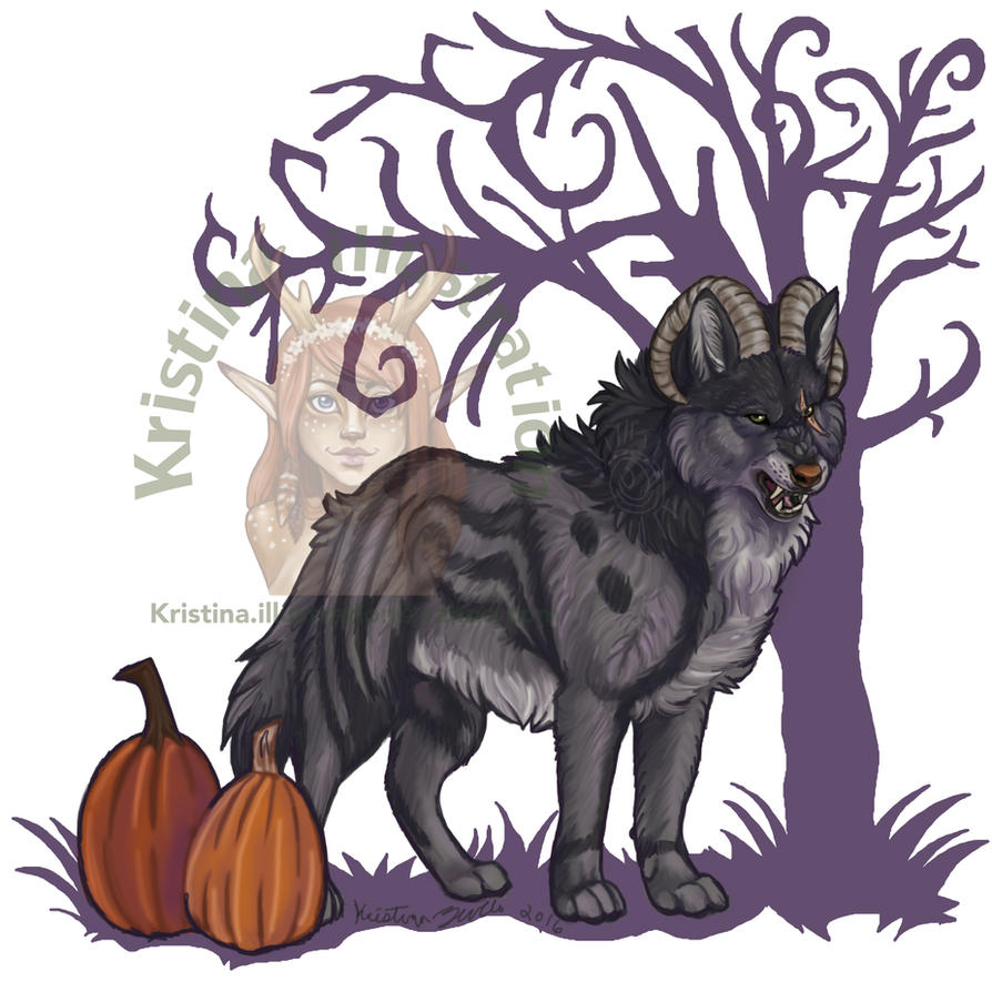 Halloween Wolf by NatsumeWolf