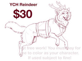 YCH  - Reindeer  (any species)SOLD by NatsumeWolf
