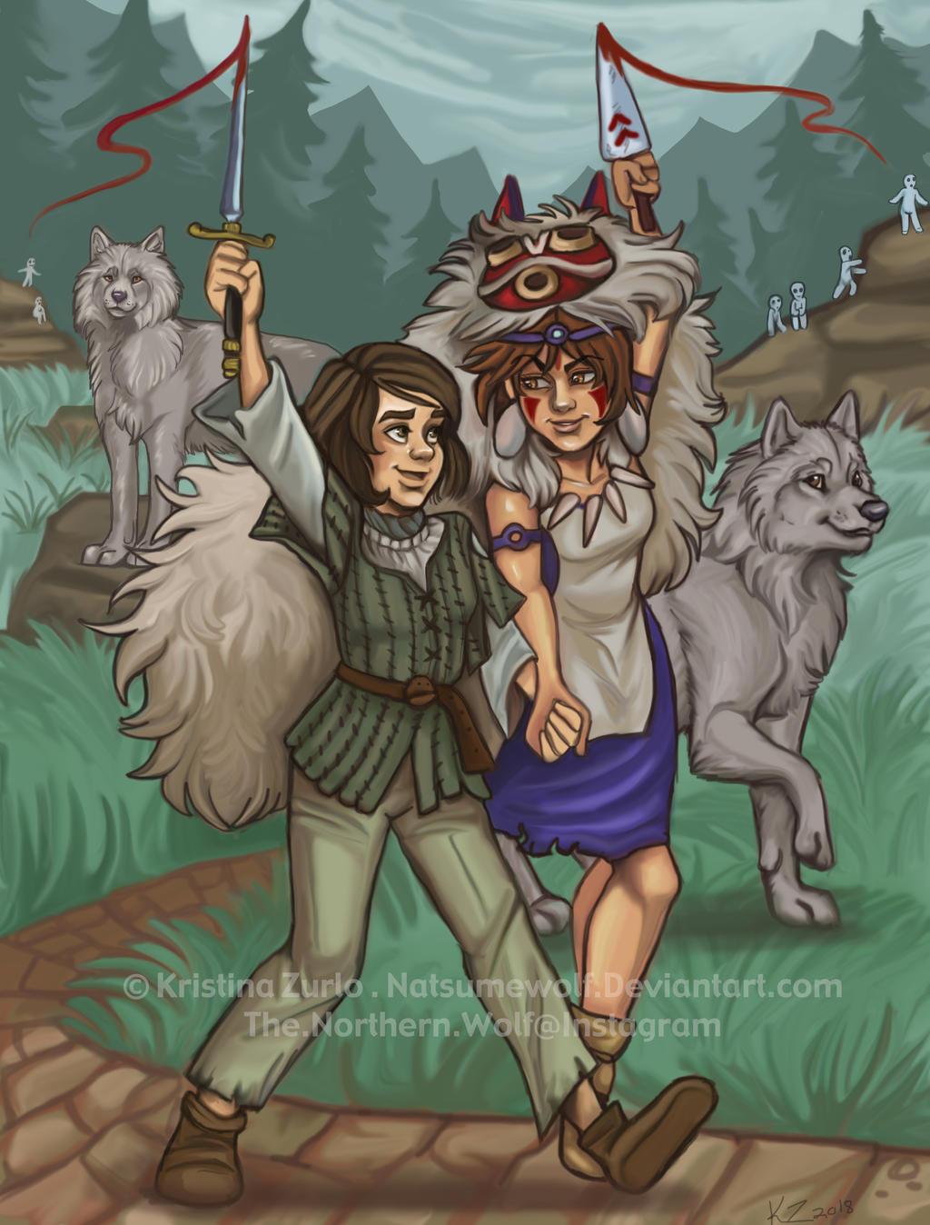 Arya And San Wolf Girls By Natsumewolf On Deviantart