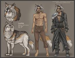 Wolf Shifter Larkin Reference by NatsumeWolf