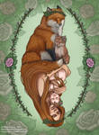 Mother Fox by NatsumeWolf