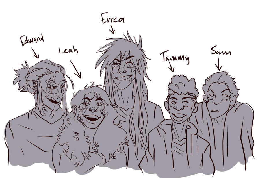 The sketchy character crew by dragonjos