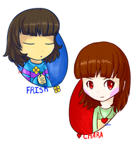Chara and Frisk by ItsMeKurisu