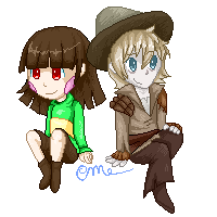 Chara and Cole (Commission) by CrystalMyu