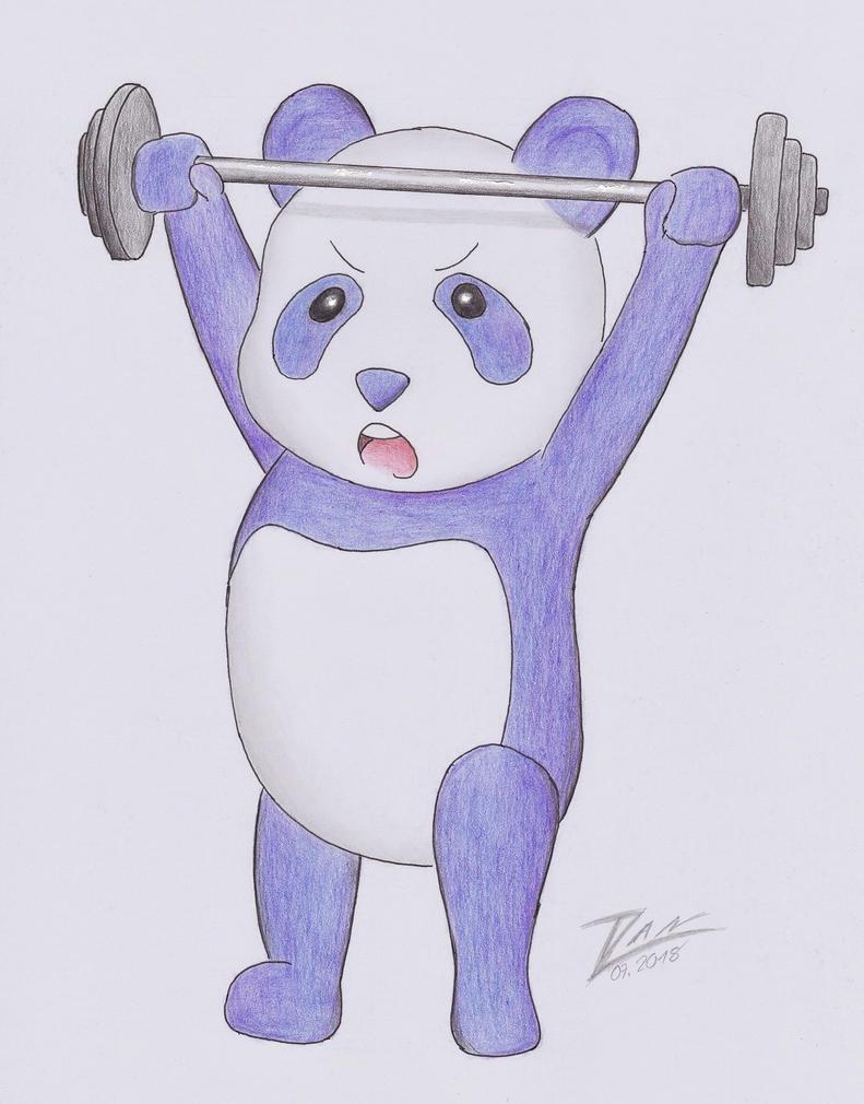 The Weightlifting Panda by Dan-Zan