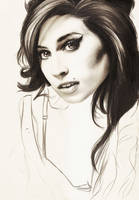 Amy Winehouse by crayon2papier