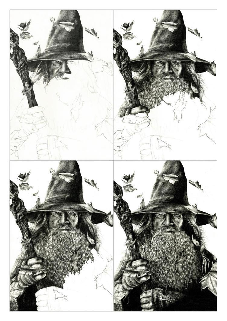 Gandalf - Ian McKellen WIP by crayon2papier