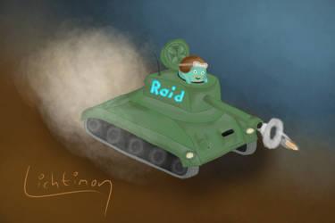 Raidmon im Panzer | Raidmon in a Tank by Lichtimon
