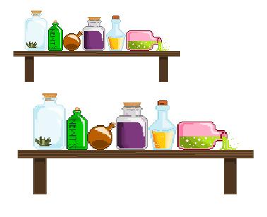 Bottles on a shelf. by Phisisturae