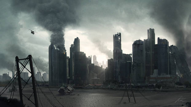 Apocalyptic City Scape by Akajork