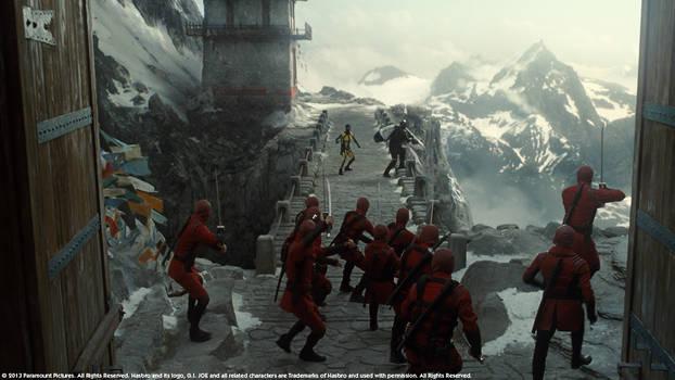 G.I. JOE - Retaliation, Mountain Sequence