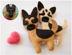 Felt german shepherd dogs ornaments by ReiCreazioni