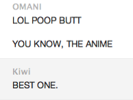 Poop butt the anime. by merrywendsday