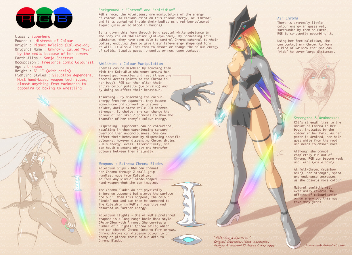 Character Design Brief : Rgb design sheet oc by jasoncardy on deviantart