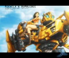 Mikaela and Bumblebee