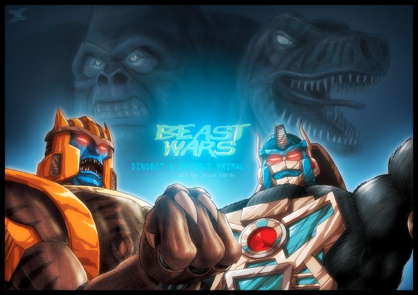 [Pro Art et Fan Art] Artistes à découvrir: Séries Animé Transformers, Films Transformers et non TF - Page 4 Tf_beast_wars_con_print_by_jasoncardy-d4azvi5
