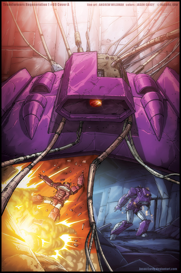 Transformers ReGeneration One #89 cover by JasonCardy
