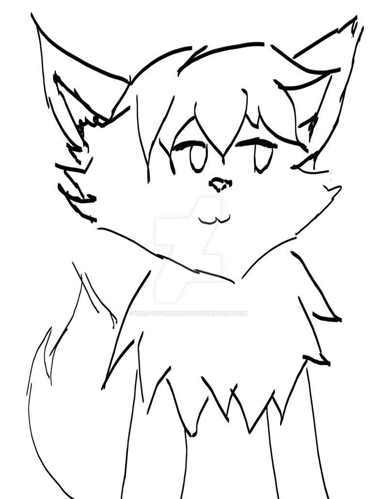 Little fox  sketch by sira-the-hedgehog