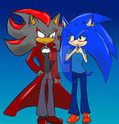 Art trade : AU Sonic and shadow