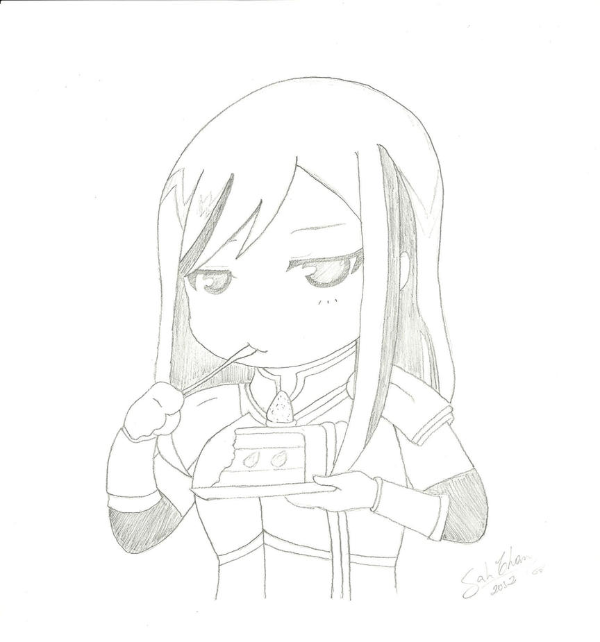 Fairy Tail Drawings Erza Chibi Erza  Fairy Tail  by