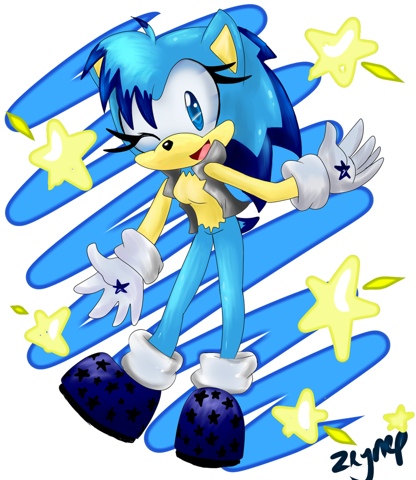 Starry the hedgehog by SonicStaryFan